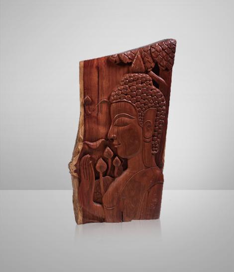 Budda-carved Rosewood Screen