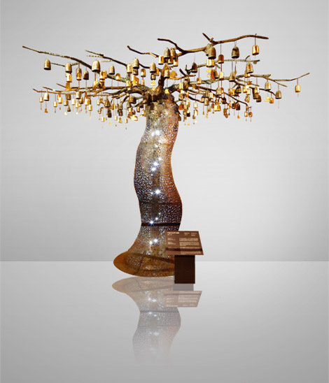 Tree of Close Friendship Made of Copper Coin
