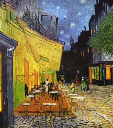 梵高名画《夜间咖啡图片